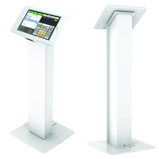Shown on Radius Floor Stand