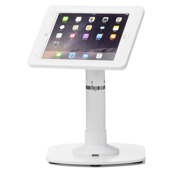 "Pipeline Kiosk 12"" with Elite Enclosure for iPad 9.7"" (2017) in White with Baseplate 800-00001_00210"